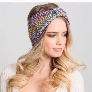 New Rainbow Multi-colored Bow Headband. Box A.